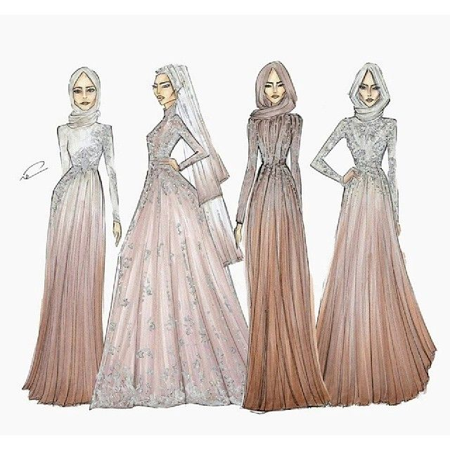 Fashion illustration #hijab
