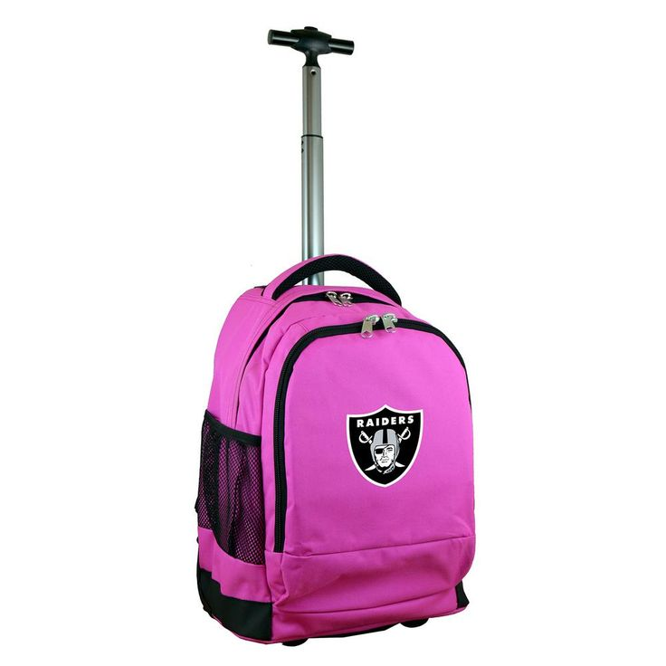 NFL Oakland Raiders 19 in. Pink Wheeled Premium Backpack
