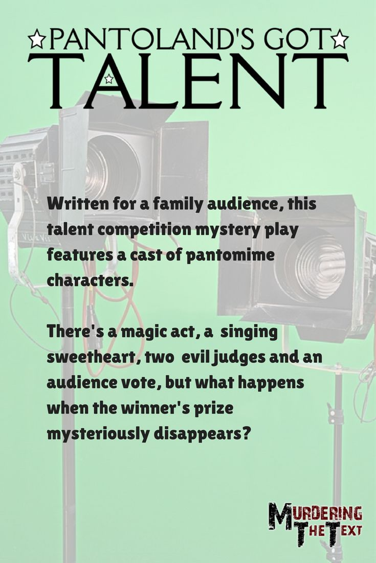 A talent competition with a difference, and a mystery to solve too.