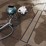 VILSTEIN© Duschrinne mit Siphon Boden- und Duschablauf Befliesbar 80cm
