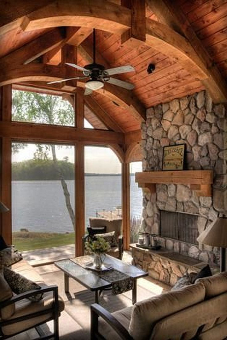 17 best ideas about small lake houses on pinterest small home plans small homes and small - Small lake house interiors ...