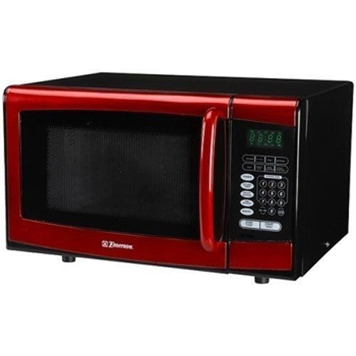 Emerson MW8999RD 900 Watt Microwave Oven - Red by EMERSON