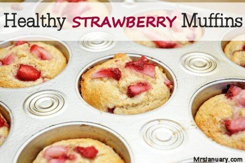 Healthy+Strawberry+Muffins