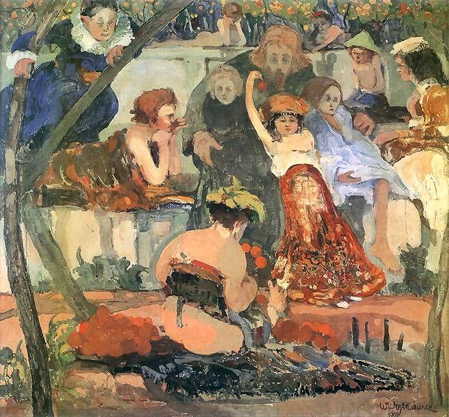 Chrystus i dzieci.   1908. Olej na płótnie. 65 x 70 cm.    Muzeum Narodowe, Warszawa