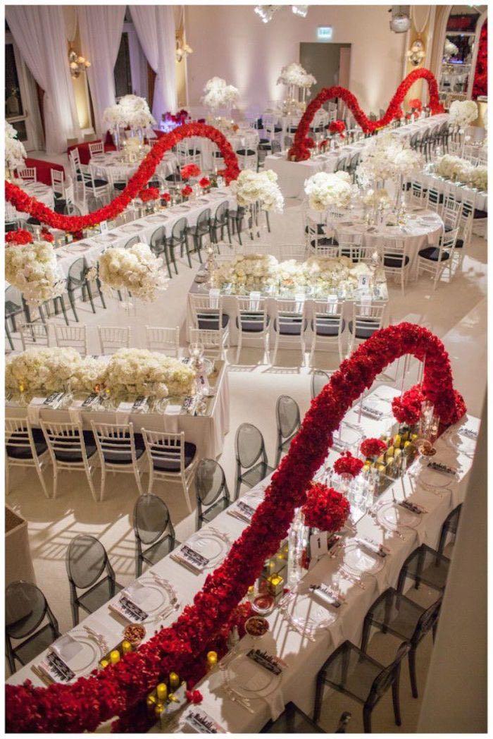 photo: John & Joseph Photography; stunning ballroom wedding reception idea;