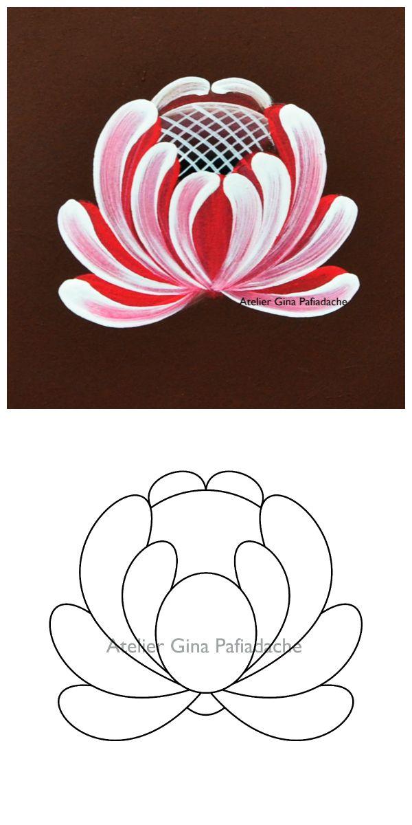 Atelier Gina Pafiadache: Rosa Campestre em Bauernmalerei
