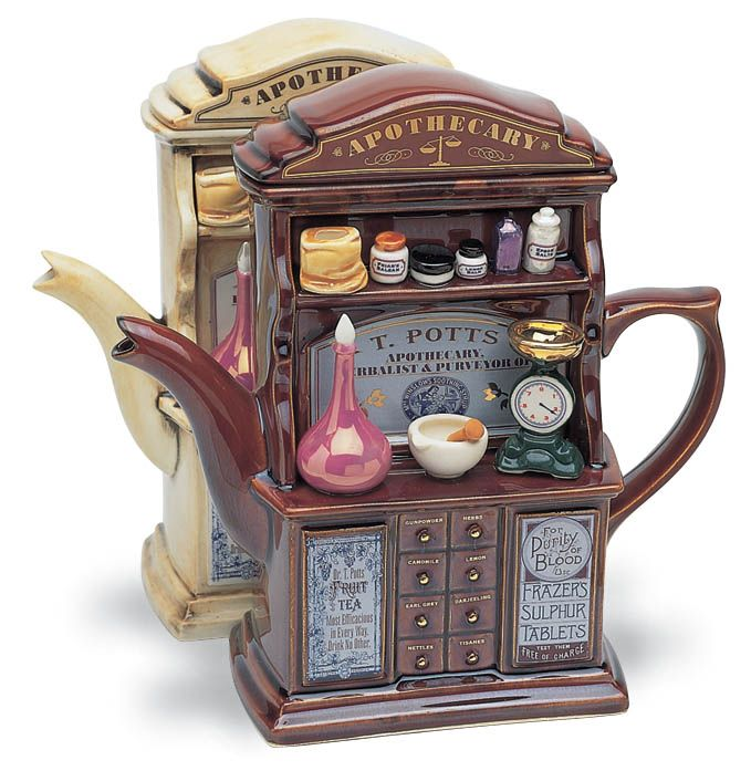 The Apothecary teapot available in dark or light.