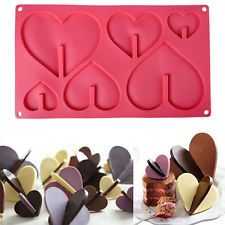 3D Heart Silicone Cake Mold Candy Fondant Chocolate Mould DIY Baking Tool LAUS