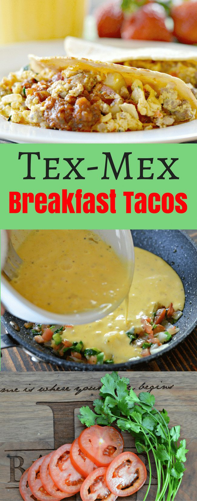 These Tex-Mex breakfast tacos are so easy to make, yet delicious! They are great for breakfast, brunch or anytime! AD SmithfieldBrunch