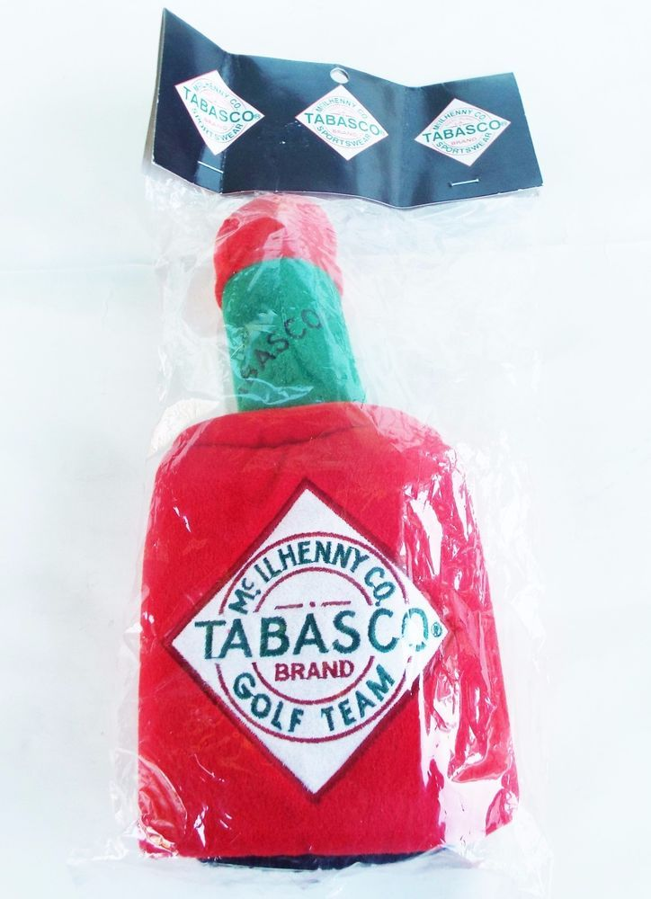 TABASCO GOLF CLUB HEAD COVER NEW IN PACKAGE BITE THIS SPIDER ON BACK MCILHENNY #Chiliwear