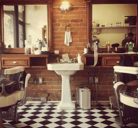 Barbershop Design Ideas barber shop in madrid barbershop designbarbershop ideasbarber Find This Pin And More On Barber Shop Ideas And Styles