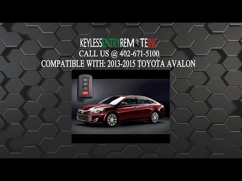 How To Change The Battery In A 2013 - 2018 Toyota Avalon Key Fob