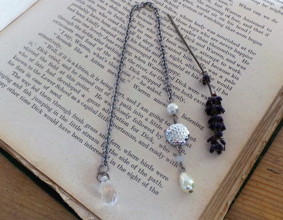Pearl Bead Bookmark Unique Bookmarks Book Marks Book by SCWVintage