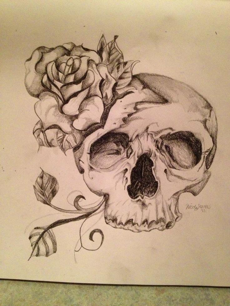 best 25 skull and rose drawing ideas on pinterest skull