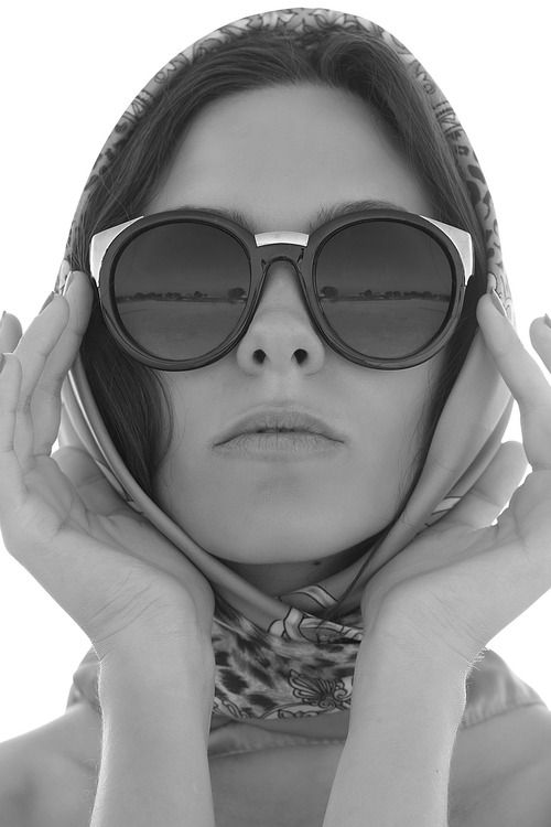 Retro shades and head scarf