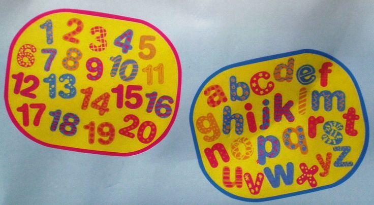 2 x Baby Car Window Sun Shades Stopper ABC & 123 Mesh Blinds Visor Shield Cover