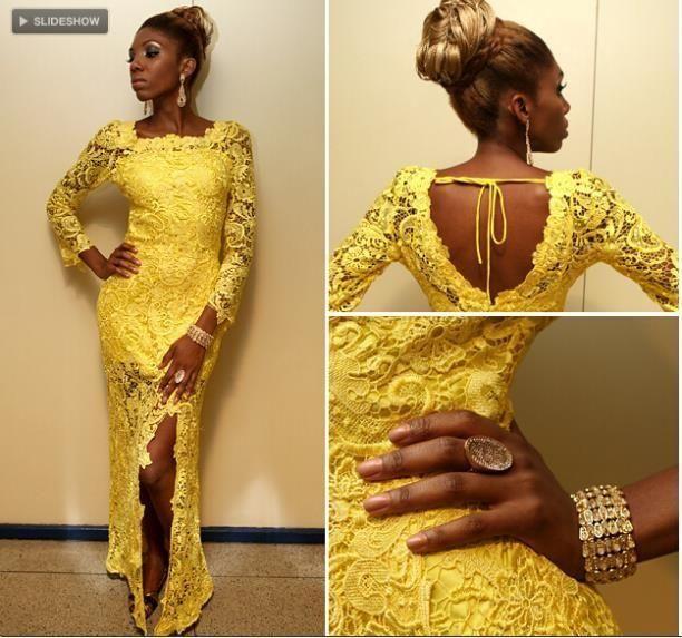 Elegant Yellow Lace Evening Dresses Long Prom Dresses Sheath Vestido De Festa Long Sleeves Formal Party Dresses Side Slit