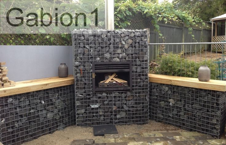 gabion barbecue and fireplace