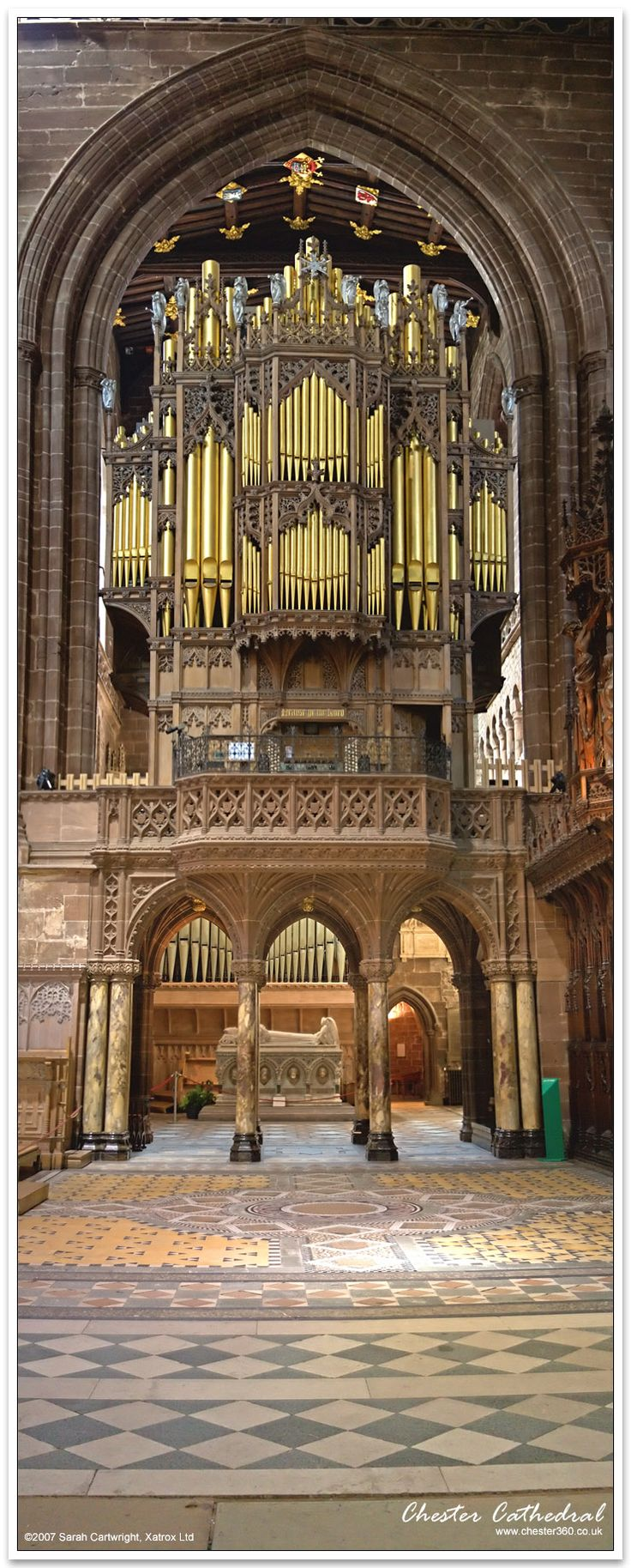 Chester Cathedral Organ, UK, Chester Cathedral dates from 1093 although there was a Roman place of worship on the site before this, stunning!