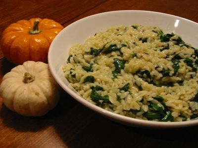 Cheesy Spinach Mushroom Miracle Noodle Orzo Recipe - 0 Calories & 3 Point Value - LaaLoosh