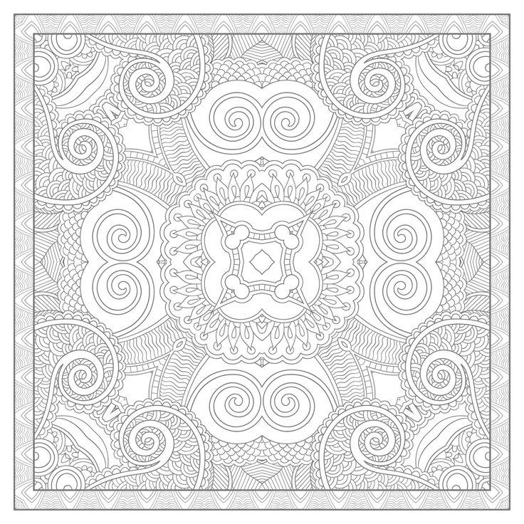 Free squared mandala coloring page coloring adult squared mandala by karakotsya 3 coloring - Grand mandala ...