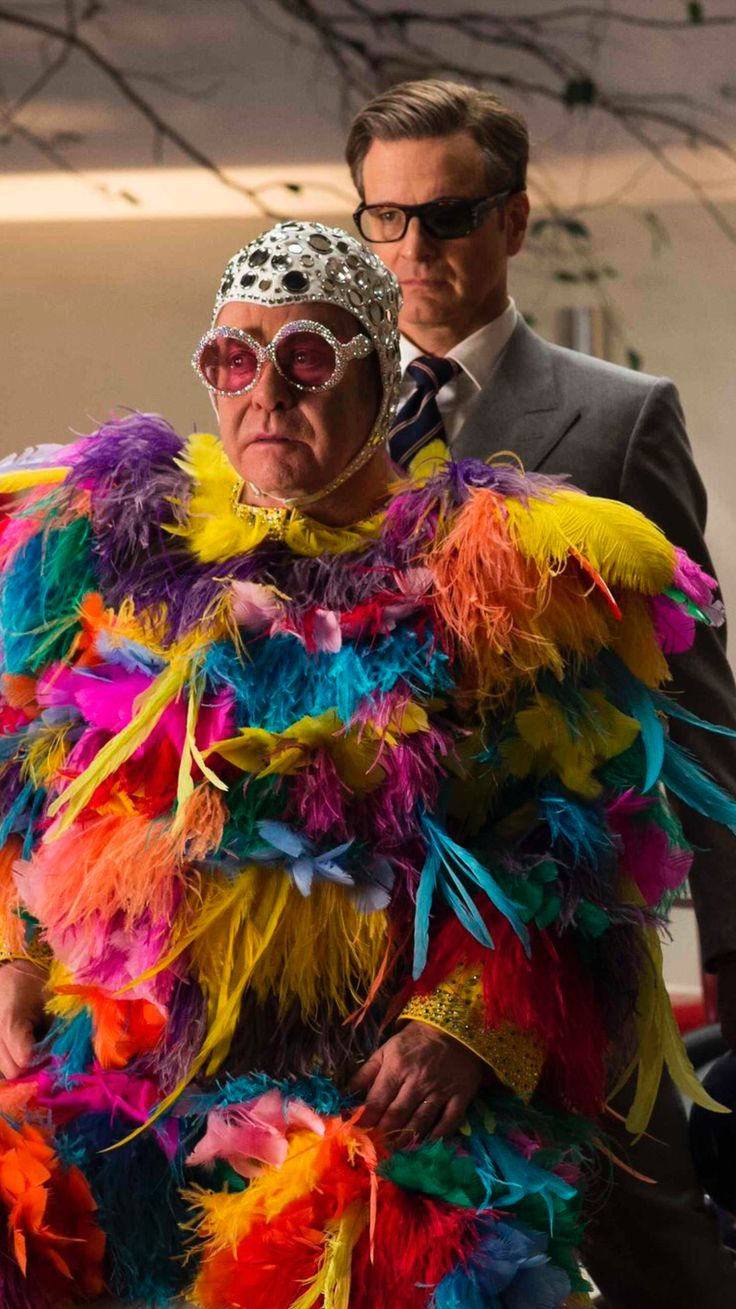 To think Coling Firth fried on Elton's Costume  someone please release those pictures