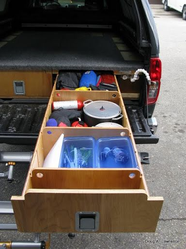 1000 ideas about truck bed camper on pinterest truck camping camper shells and camper - Homemade truck bed drawers ...