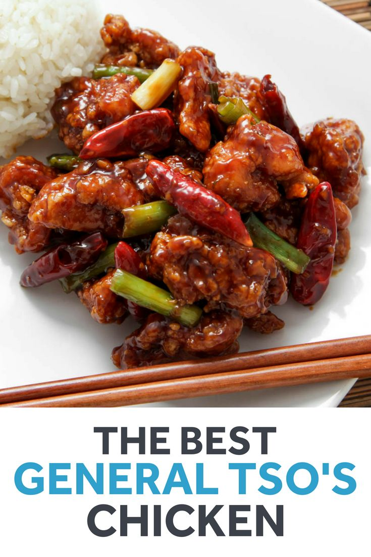 General Tso's chicken, with an extra-crisp coating that stays crisp even when coated in a glossy sauce that balances sweet, savory, and tart elements.