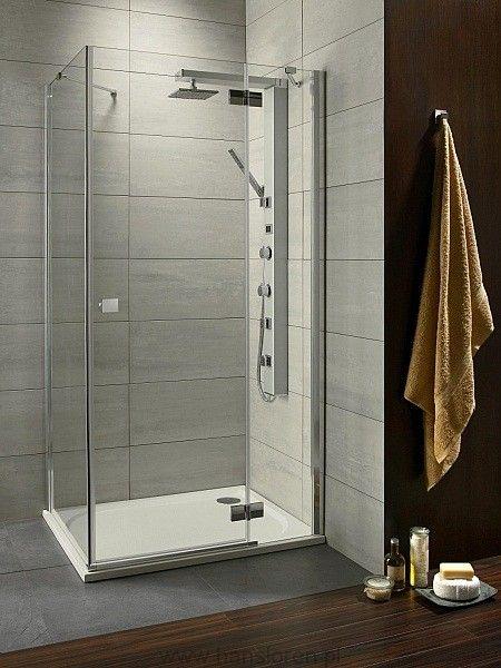 Almatea Gold KDJ Radaway kabina prysznicowa kwadratowa szkło brązowe 90x90x195 prawa złoto - 32102-09-08NR