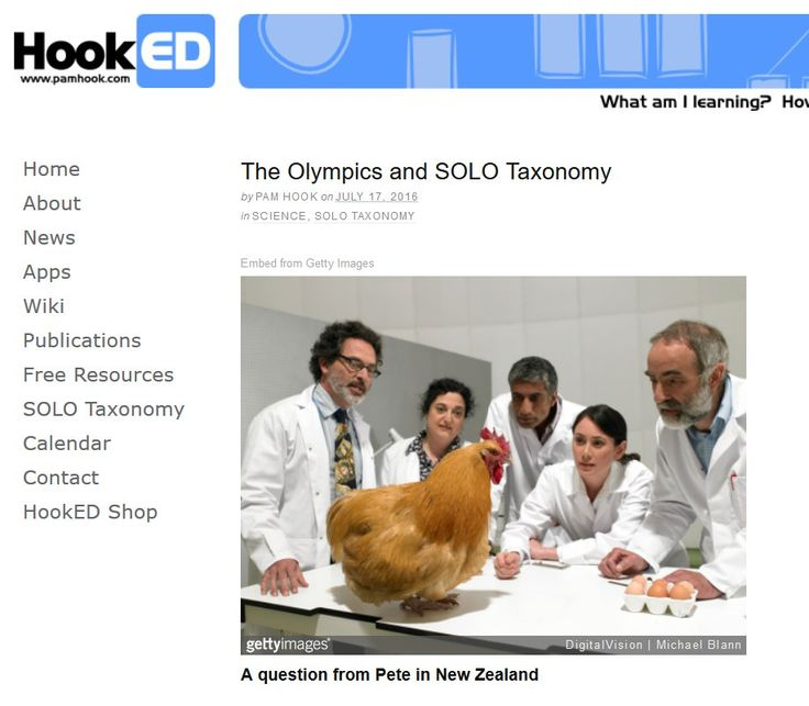 """Pam Hook on Twitter: """"The Olympics and #SOLOTaxonomy - Chickens, visual planning & the HookED SOLO Strip https://t.co/mHoHw6ssZw https://t.co/KW4Oq8bglk"""""""