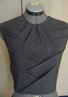 Innovative Pattern Cutting - pleated bodice design; sewing inspiration; draping; fabric manipulation