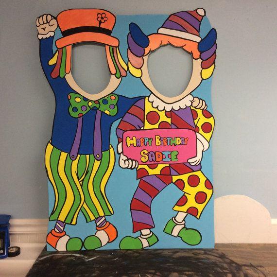 Carnaval tema fiesta Prop FoamBoard. Payaso por LittleGoobersParty