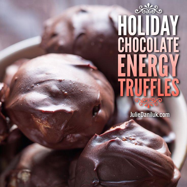 Holiday Chocolate Energy Truffles | #MealsThatHeal