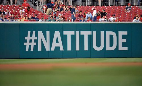 Hey Nats fans. We are still only 1/2 game out of 1st lace thanks to San Fran who just swept those Braves!!!    #NATITUDE