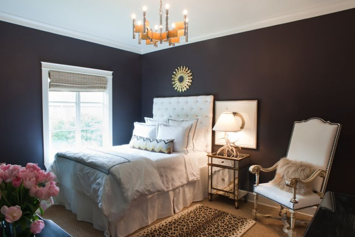 Sally Wheat Interiors on Style.Design.Life: Wall Colors, Guest Room, Small Room, Guest Bedrooms, Wall Painting Colors, Sally Wheat, Dark Walls, Wall Colours, Black Wall