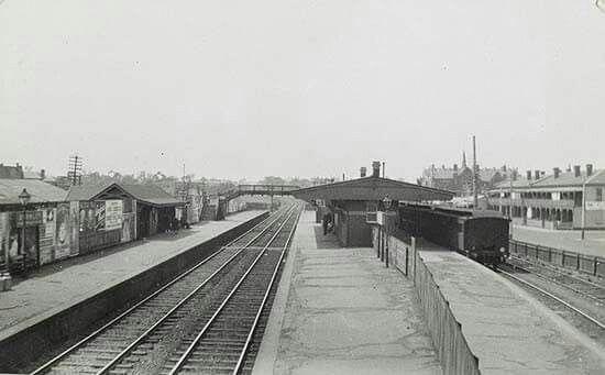 Burnley Station in Melbourne,Victoria circa post 1910.