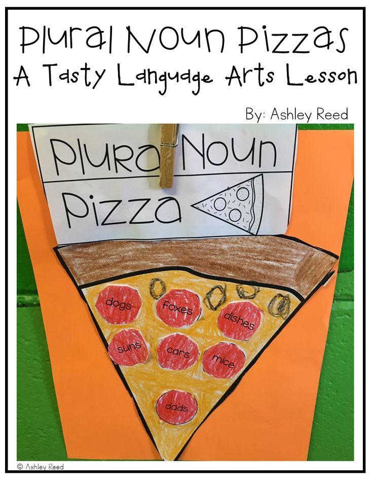 Make plural noun pizzas for a TASTY language arts lesson!
