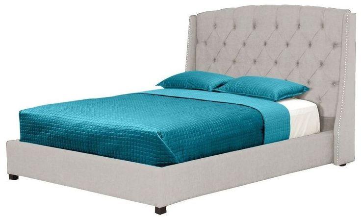 beige linen bed in queen