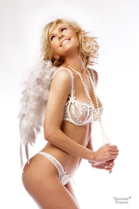 Pearls & White #Lingerie - #Sexy Bridal Demi Bra & Sheer Thong Panties