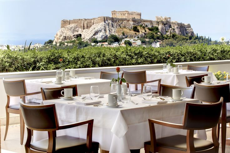 Enjoy an undistracted view to the Acropolis from Grande Bretagne's roof terrace!