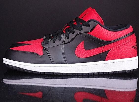 Air Jordan 1 Low Color: Black/Gym Red-White Style Code: 553558