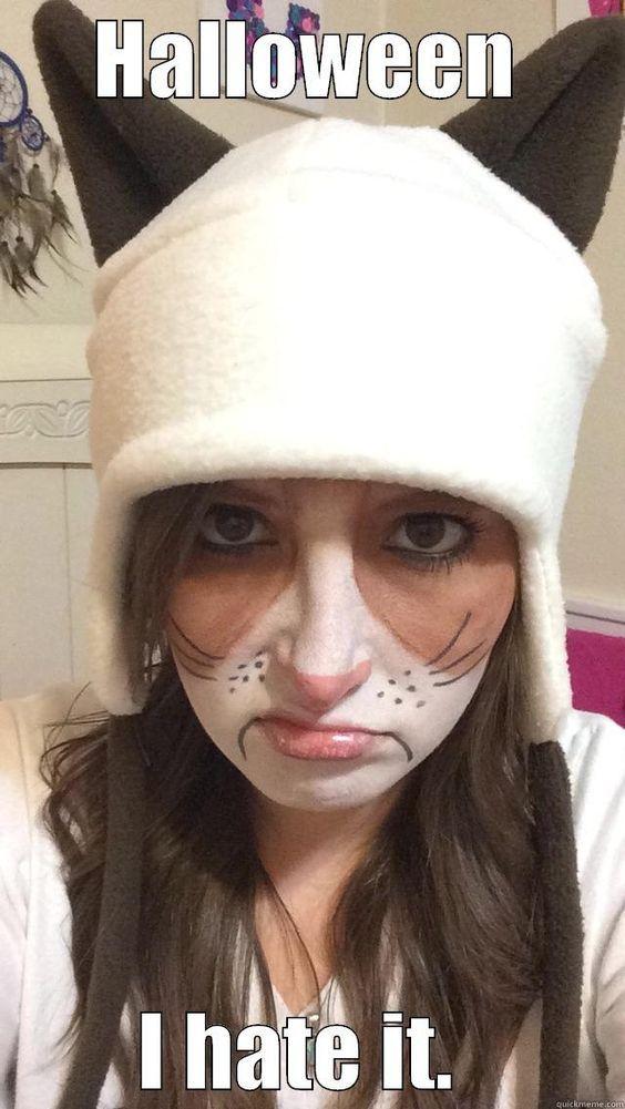 DIY Grumpy Cat Halloween Costume Idea 2