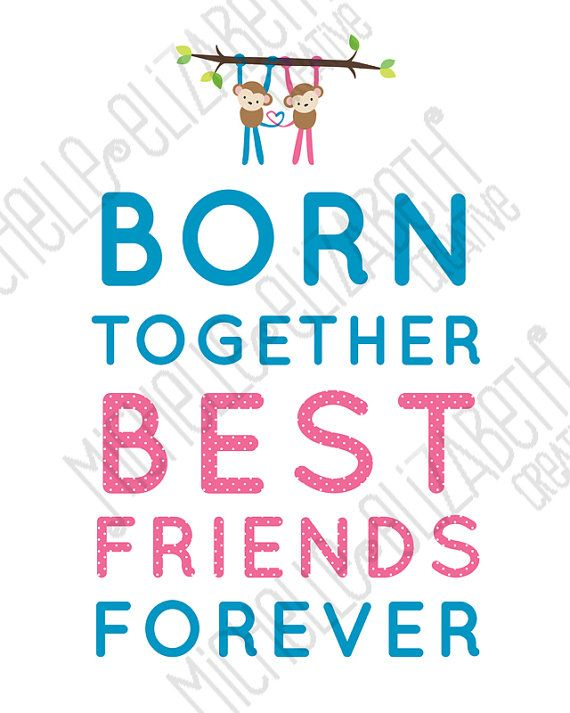 Born Together Best Friends Forever Poster by ...