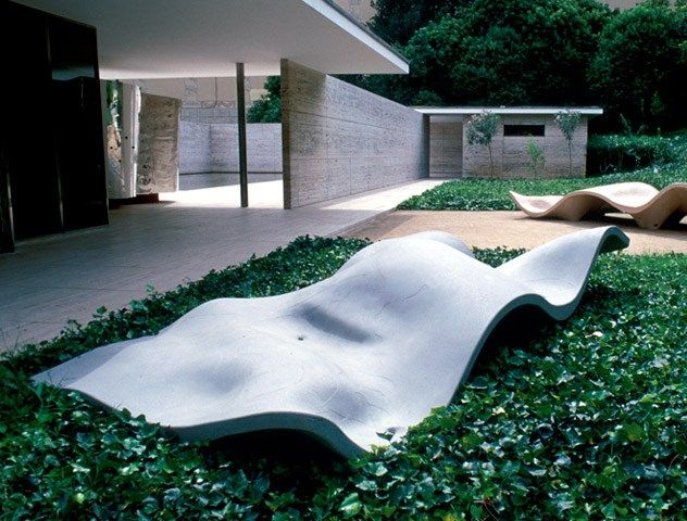 Outdoor furniture made from plastic & slimline concrete, designed through…