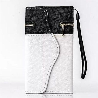 Black and White Wallet PU Leather with Card Solt for iPhone 6 - EUR € 9.99