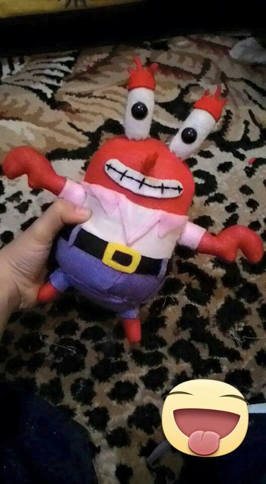 Mr. Crab dari kaos kaki