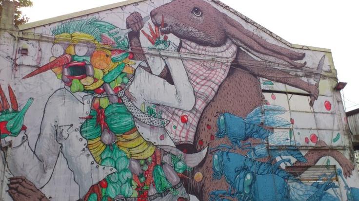 BLU artista di strada bolognese