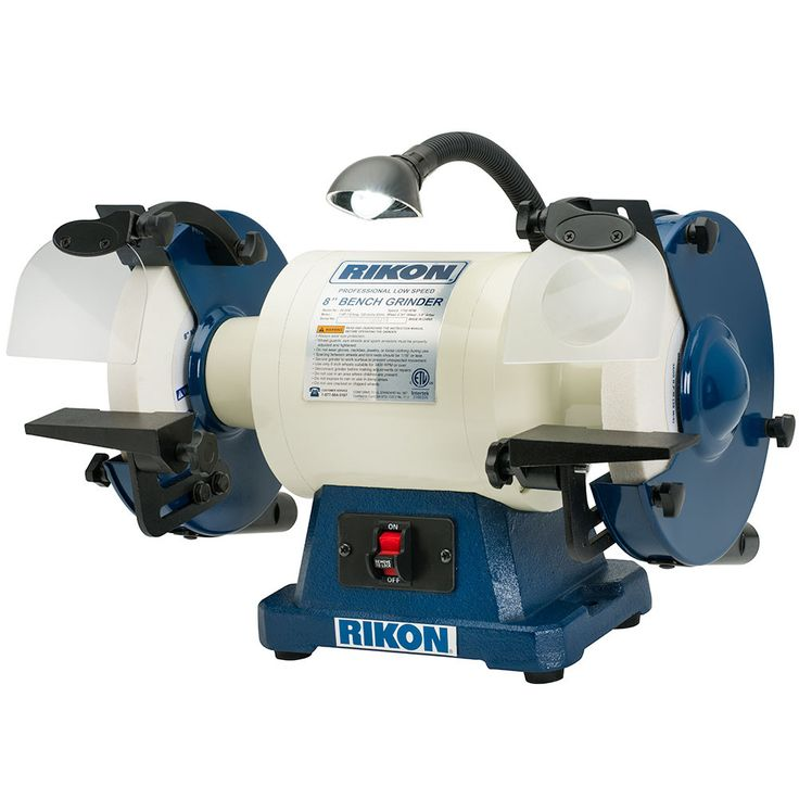 Rikon 8 Slow Speed Bench Grinder 1 Hp Lathes Power Tools And Accessories Pinterest Bench