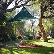 Sun Sails. . . so much nicer than shade tents. . .if you have trees that is