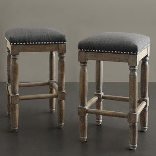 @Overstock.com - Renate Grey Counter Stools (Set of 2) - A great addition to just about any room in the house, these Renate counter stools add extra seating with style. This set of two stools is constructed of solid wood, complete with a handcrafted reclaimed wood finish.  http://www.overstock.com/Home-Garden/Renate-Grey-Counter-Stools-Set-of-2/7658736/product.html?CID=214117 $224.99